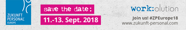 Save the date: Zukunft Personal Europe vom 11.-13. September 2018